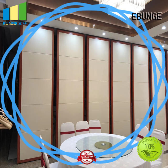 retractable sliding wall panels supplier for hotel