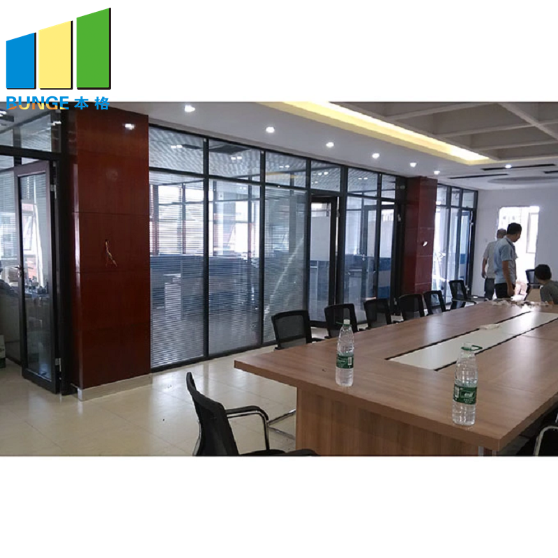 demontable glass walls and doors customized for banquet hall-2