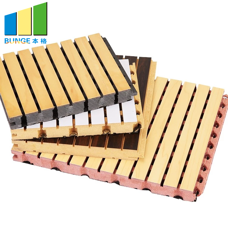 Bunge-Soundproof Wall Panels, Mdf Decorative Acoustic Wooden Grooved Ceiling