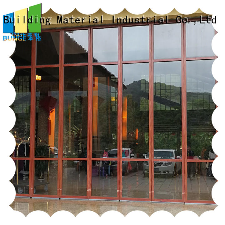 Hot glass wall sliding Bunge Brand