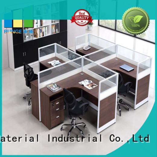EBUNGE leather contemporary office desk from China for boardroom