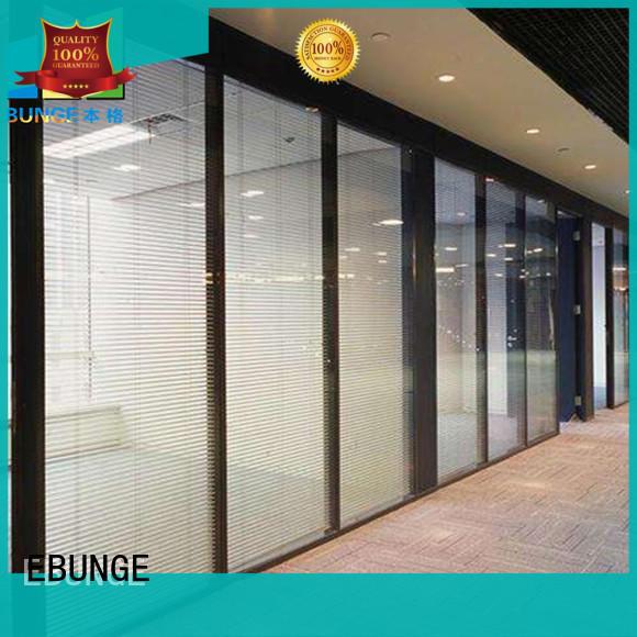 EBUNGE decorative glass partition wall design manufacturer for shop