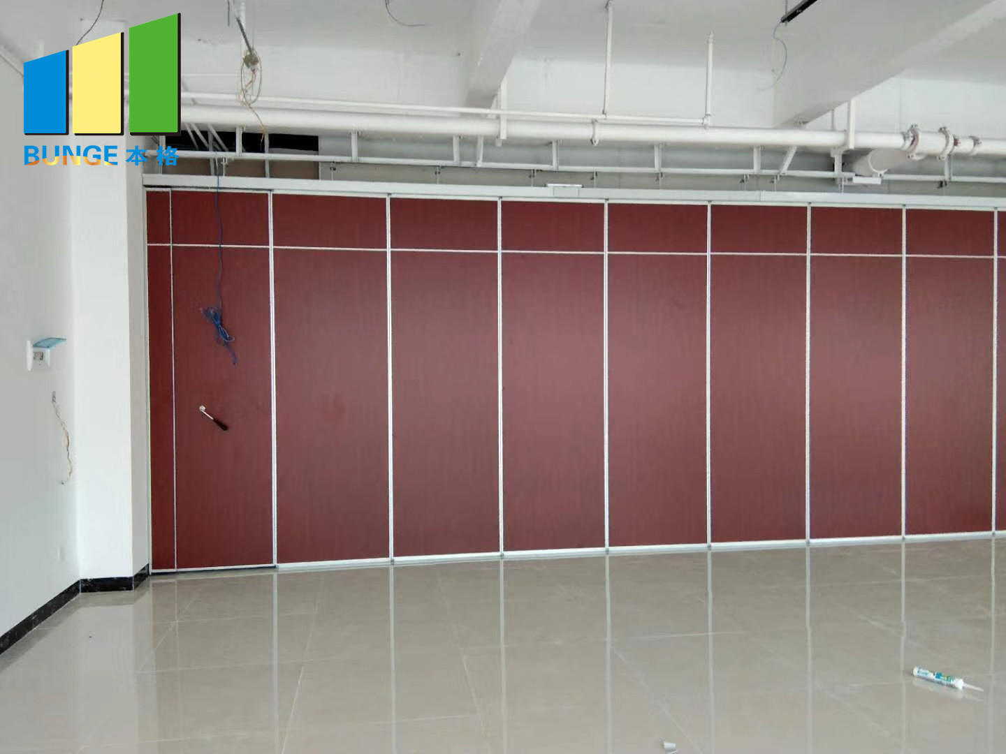 Bunge-Find Partition Wall Material Aluminum Frame Retractable Operable Sliding-1