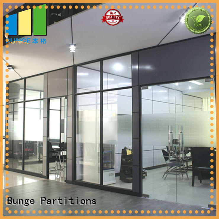 internal glass partition aluminum frame for banquet hall EBUNGE