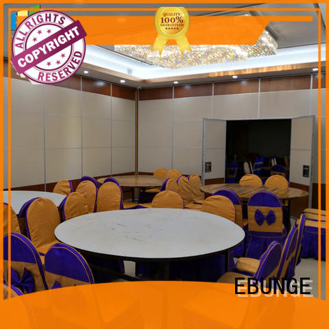 MDF foldable soundproof partition wall retractable for exhibition centers EBUNGE