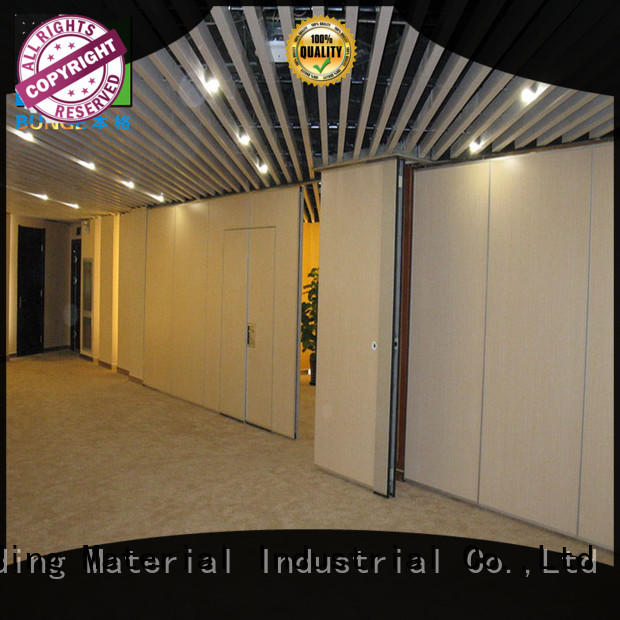 EBUNGE wooden movable partition wall systems customized for meeting room