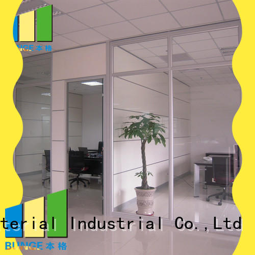partition wall with glass decorative aluminum office glass partition design manufacture
