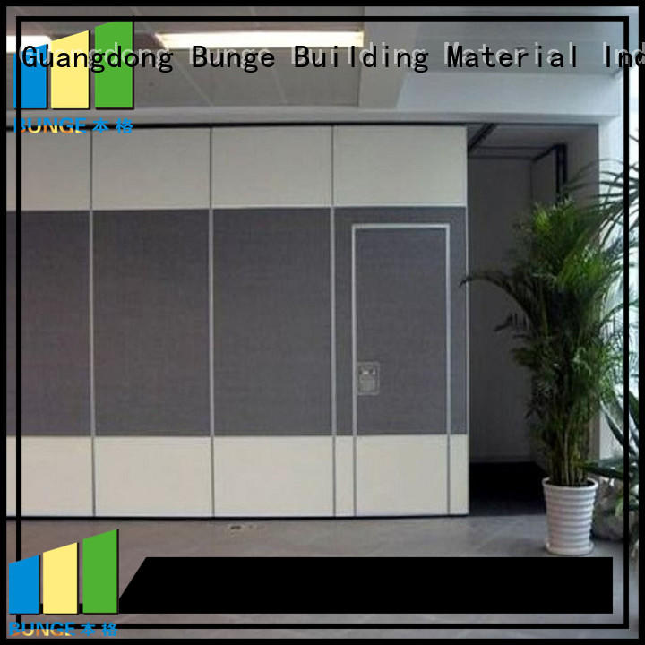 partitions function aluminum movable walls Bunge Brand company
