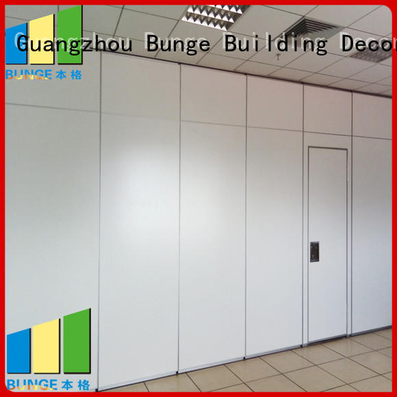 Bunge Brand gym track exhibition proof folding wall