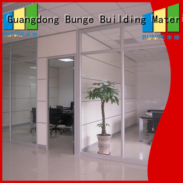 glass door partition frame wall glass partition manufacture