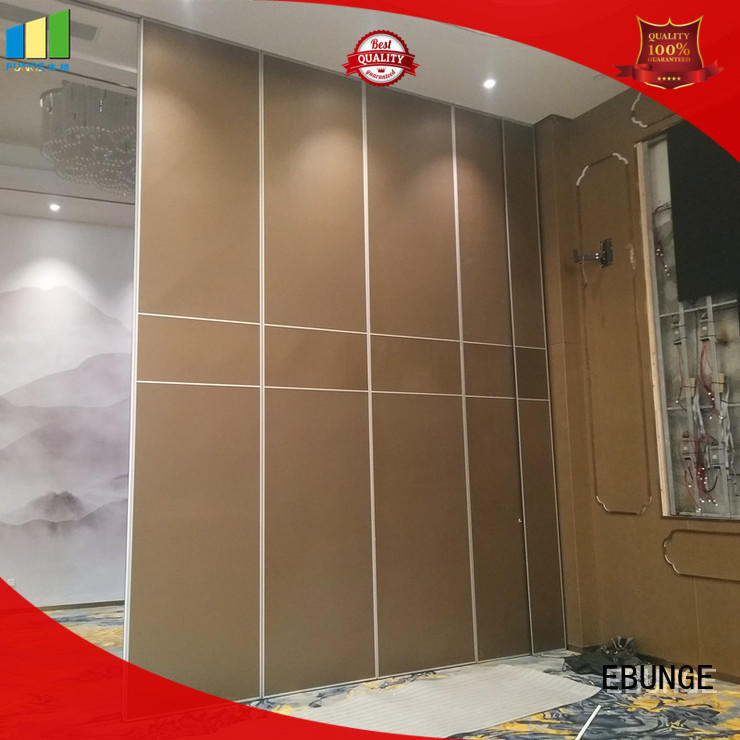 MDF board portable partition wall systems supplier for office EBUNGE