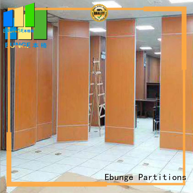 EBUNGE wooden wall partition with door supplier for hotel