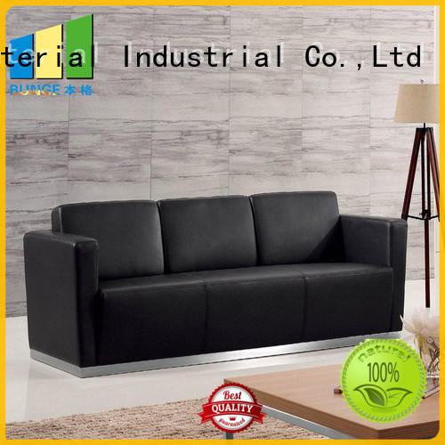 EBUNGE pu leather office couch directly sale for office