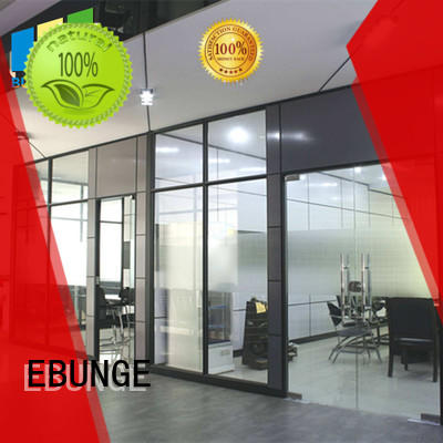 EBUNGE frameless glass wall wholesale for banquet hall