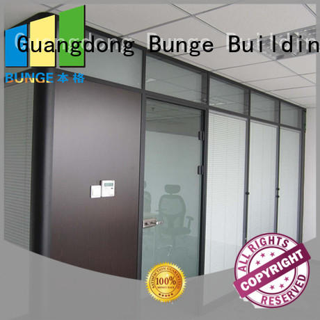 EBUNGE office glass partition design from China for conference room