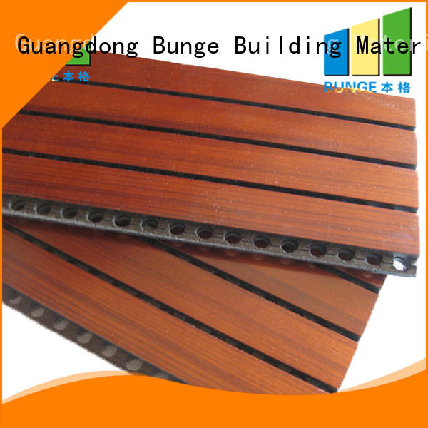 Hot sound acoustic panel material mdf Bunge Brand